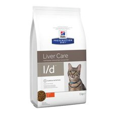 Hill's Prescription Diet l/d Liver Care корм для кошек с курицей (липидоз печени, печеночная энцефалопатия)