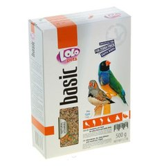 Полнорационный корм для амадин и экзотических птиц LoLo Pets (Лоло Петс) basic for EXOTIC BIRDS, 500 гр